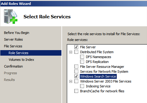 Windows Search Server – Activate search and index for remote