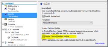 Add virtual TPM in Windows 10 Hyper-V guest with PowerShell