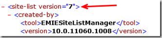 Enterprise Mode site list file