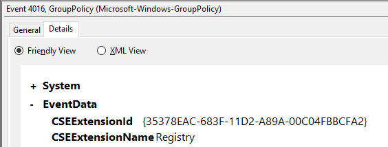List Group Policy Client Side Extensions, CSEs, from Windows