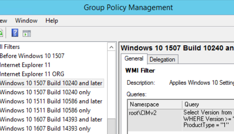 Group Policy WMI filters for Windows 7/8/8 1/10 – DeployWindows