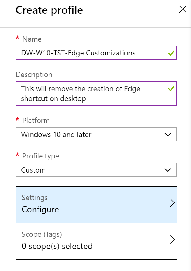 Prevent Edge desktop shortcut CSP-style – DeployWindows